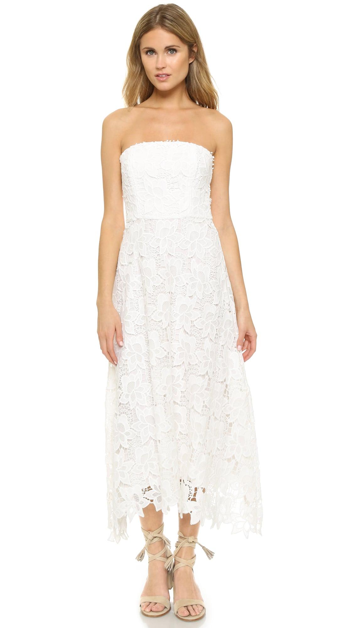 Bb Dakota Eleanor Strapless Lace Midi Dress 114 The