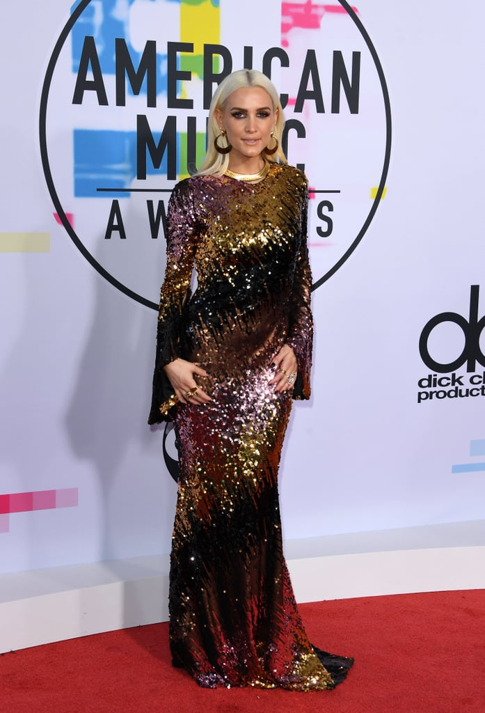 Warning: You May Be Blinded by Ashlee Simpson's Sequinned AMAs Dress