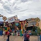 The entrance of Slinky Dog Dash.