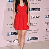Little lady in red while attending the LA premiere of The Vow.