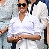 July: Meghan was back at Wimbledon, this time with Kate Middleton and her sister, Pippa.