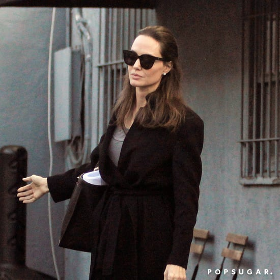 Angelina Jolie Wearing Black Flats