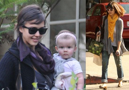 Photos of Jessica Alba, Honor Warren, Cash Warren in LA, Jessica Has New Hair Cut