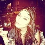 Vanessa Hudgens cheered to a New Year. Source: Instagram user vhofficial