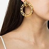 Chanel Vintage Logo Hoop Earrings