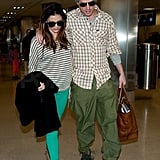 Channing and Jenna stuck close upon their departure out of LAX.