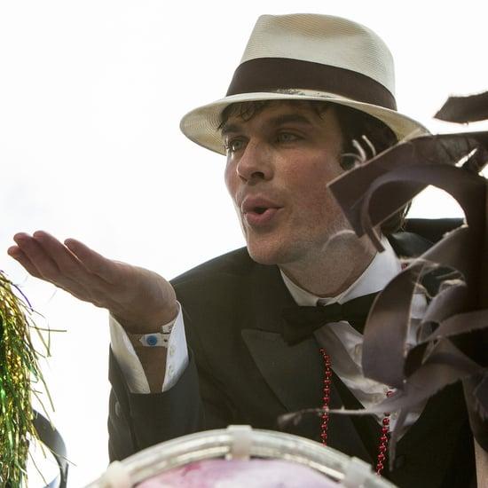 Ian Somerhalder at Mardi Gras For Krewe of Endymion Parade