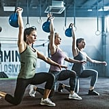 Lunge with Kettlebell Press