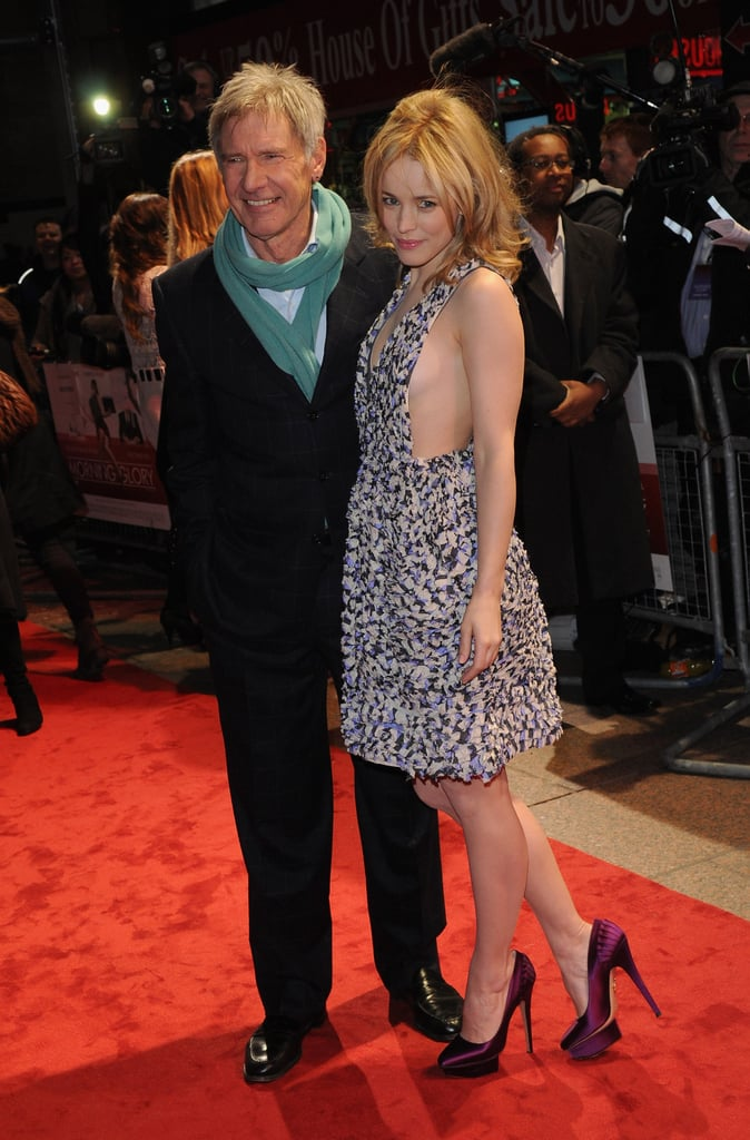 Pictures of Rachel McAdams and Harrison Ford at the London Premiere of Morning Glory
