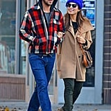 Ryan Gosling and Eva Mendes walked around Manhattan.
