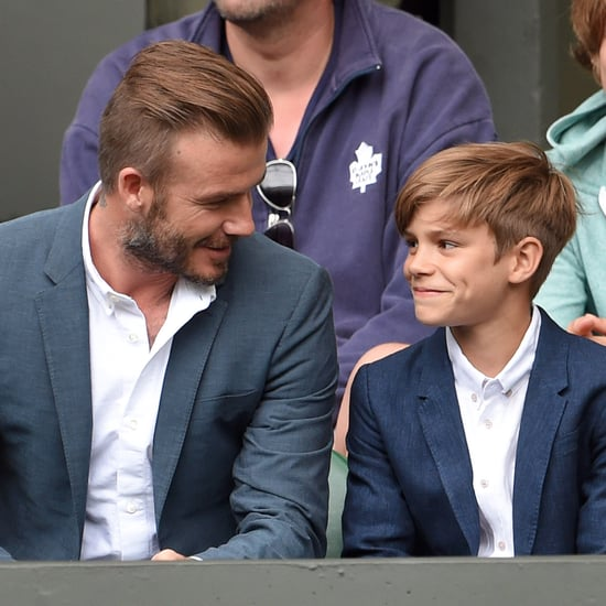 Pictures of David Beckham With Son Romeo at 2015 Wimbledon