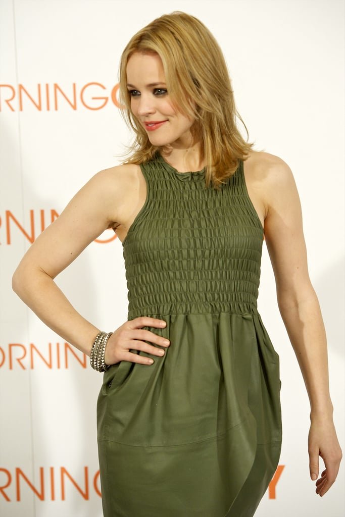 Pictures of Rachel McAdams and Harrison Ford at the Spanish Photo Call For Morning Glory