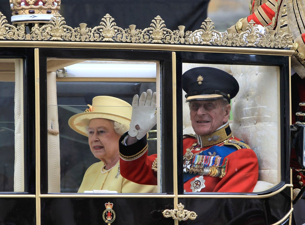 The royal pair made their way to Buckingham Palace following the royal wedding of William and Kate.