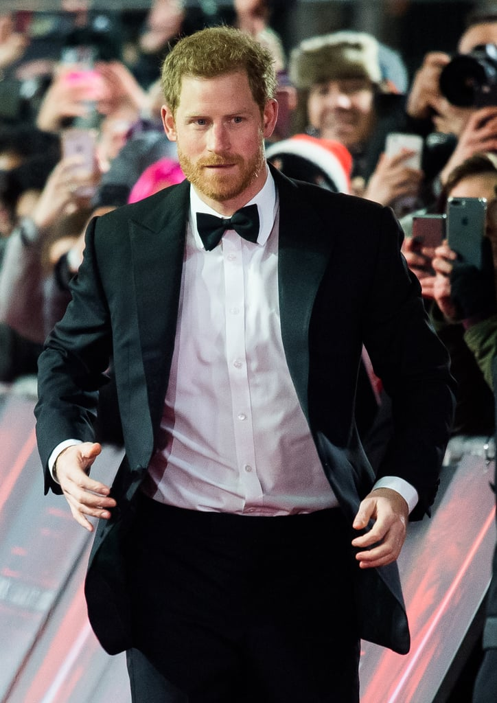 December 2017: Prince Harry at the UK Premiere of Star Wars: The Last Jedi