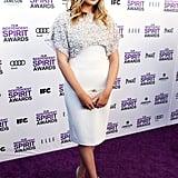 Elizabeth Olsen Brightly Steps Out For the Independent Spirit Awards