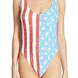 The Bikini Lab American Stars & Stripes One-Piece Swimsuit ($60)