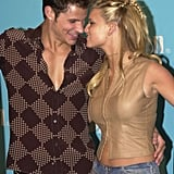 The two had heart eyes for each other as they accepted their surfboards at the Teen Choice Awards in August 2000.