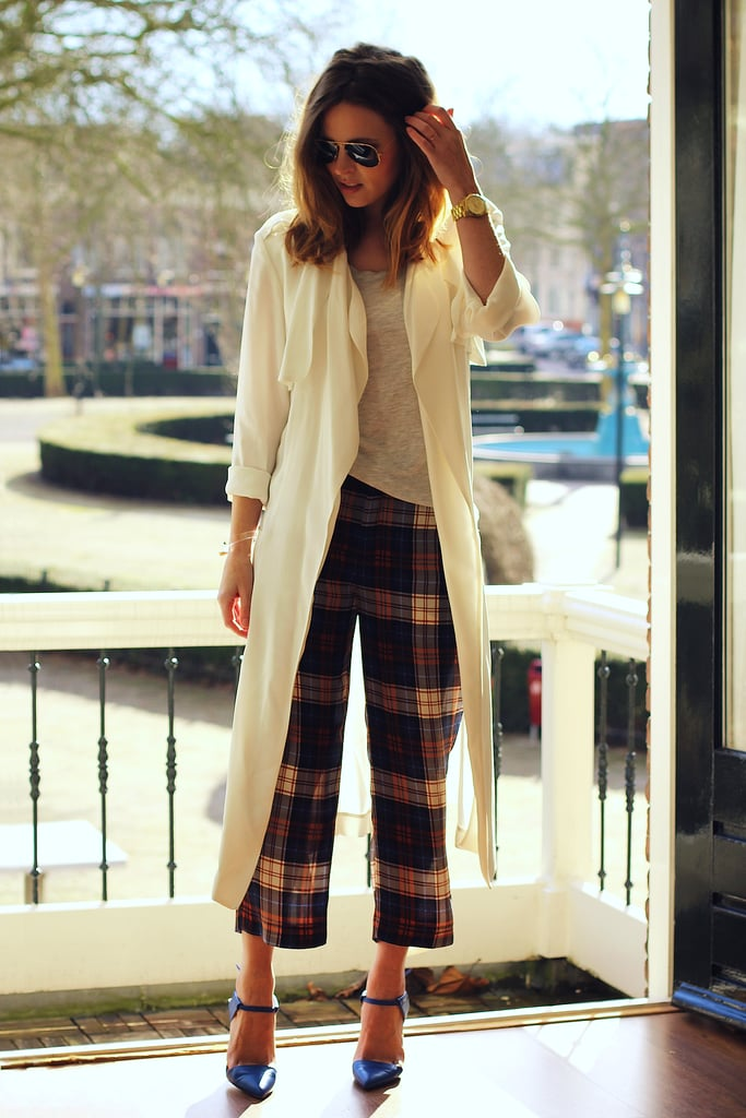 In need of a little Spring outerwear? A chic white option feels easy and breezy. Source: Lookbook.nu