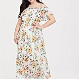 Torrid Ivory Floral Off-Shoulder Maxi Dress