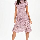 Missguided Lace High Neck Midi Dress