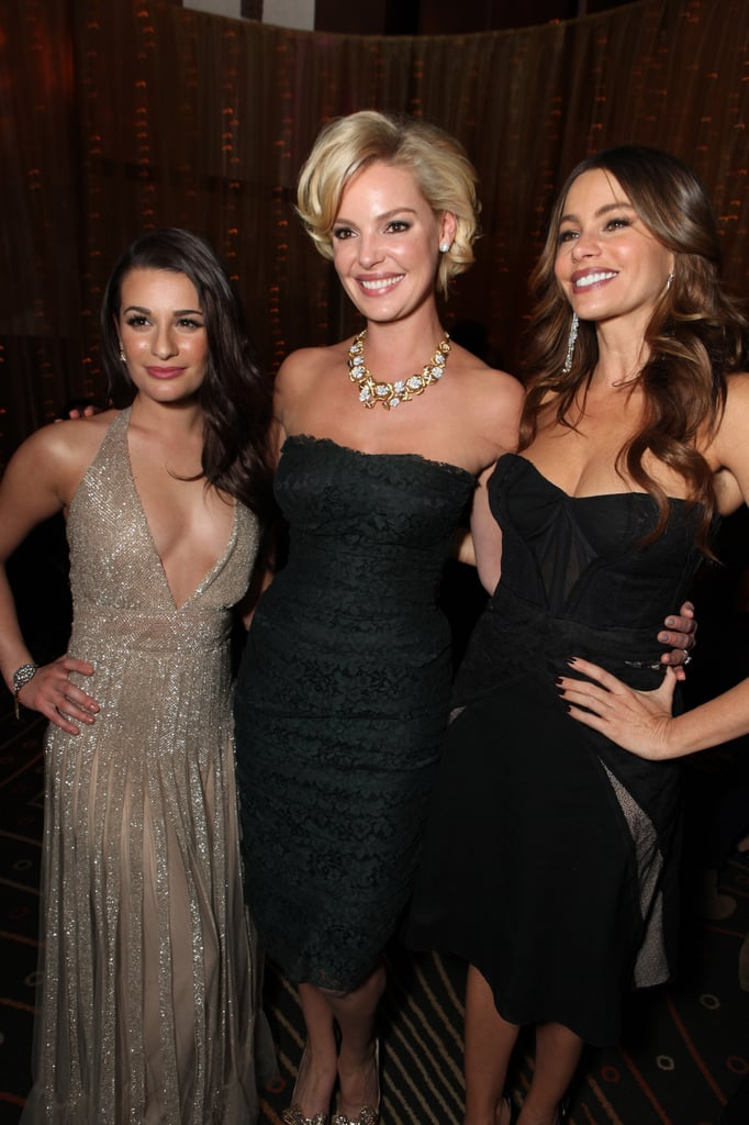 Lea Michele, Katherine Heigl, and Sofia Vergara came together for the premiere of New Year's Eve.