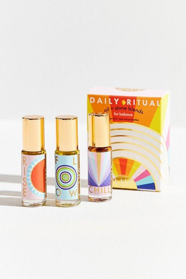 LUA Skincare Daily Ritual Oil + Stone Set
