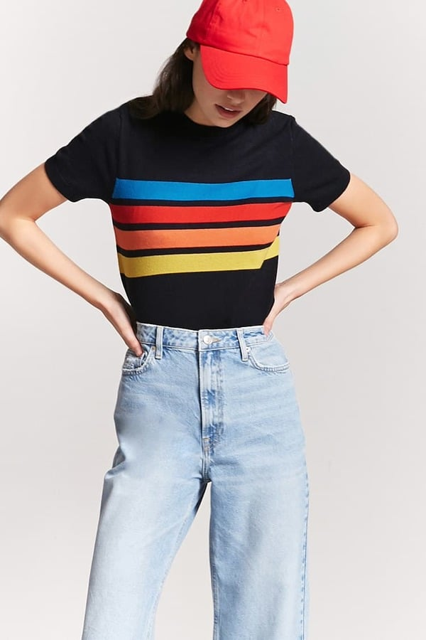 Forever 21 Stripe Sweater Knit Top Forever 21 Winter Clothes 2018