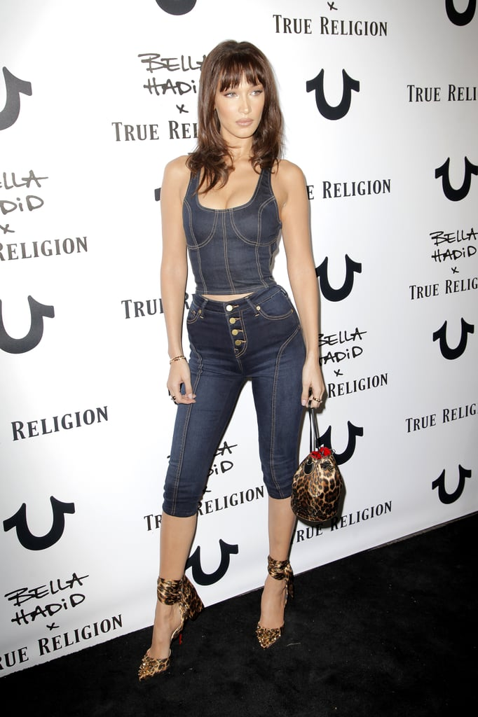 Bella Hadid True Religion Denim Outfit