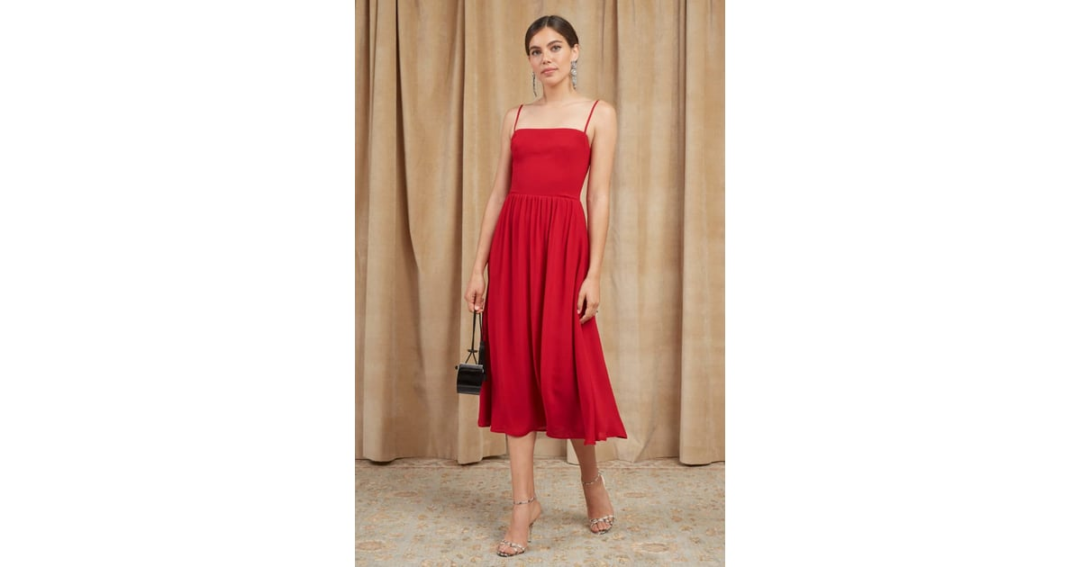 Reformation Rosehip Fit Amp Flare Dress Best Wedding Guest