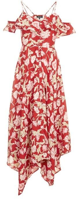 A cold-shoulder floral dress this good deserves to be worn ($95) again and again.