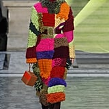 A Colorful Knitted Coat From the Roksanda Fall 2020 Runway at London Fashion Week