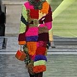 A Colourful Knitted Coat From the Roksanda Fall 2020 Runway at London Fashion Week