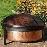 Sunnydaze Hammered Copper Fire Pit Bowl