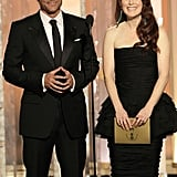 Julianne Moore was on stage in Chanel with Rob Lowe at the 2012 Golden Globes.
