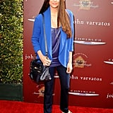 Nina Dobrev posed on the red carpet at the John Varvatos Stuart House benefit.