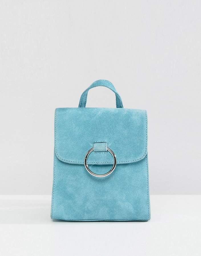 0081a707263 ASOS Suede Mini Backpack With Ring   Best Statement Bags 2018 ...