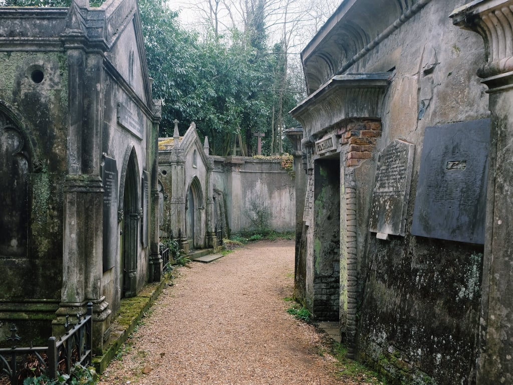 Highgate Cemetery in England