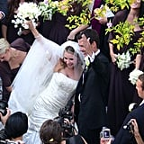 Beverley Mitchell and Michael Cameron went to Italy for their October 2008 nuptials.