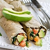 Buckwheat Avocado Crepes With Chicken and Spinach