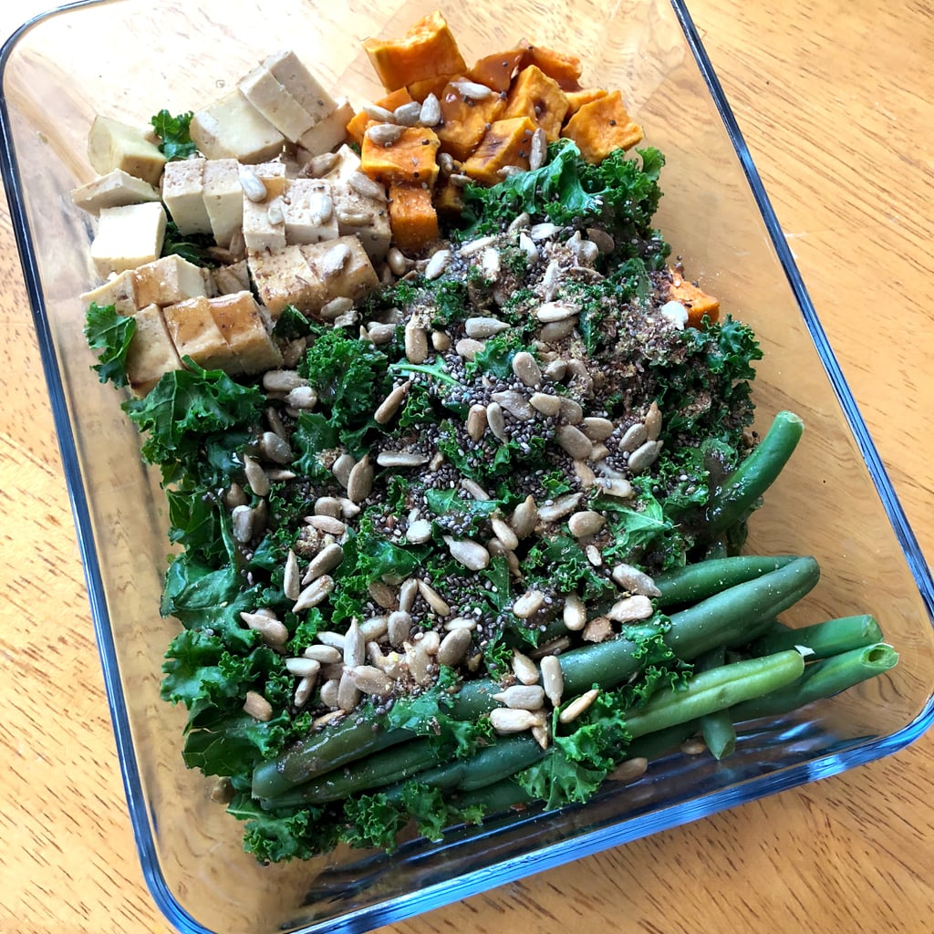 12 p.m. — Kale Salad With Tofu, Green Beans, and Sweet Potatoes