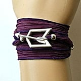 Hawkeye Purple Silk Wrap Bracelet With Toggle Closure, Fully Adjustable ($30)