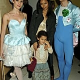 Thandie and 5-year-old Ripley posed backstage with dancers at the English National Ballet in December 2005.