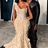 Kim Kardashian and Kanye West at the Vanity Fair Oscars Afterparty 2020