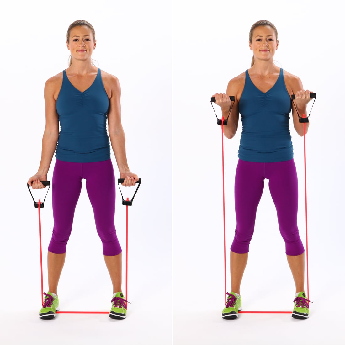 Resistance Band Workout For Biceps And Triceps Popsugar Fitness