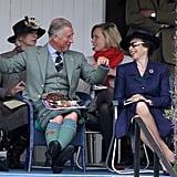 Prince Charles and Princess Anne at the Braemar Highland Games in 2010