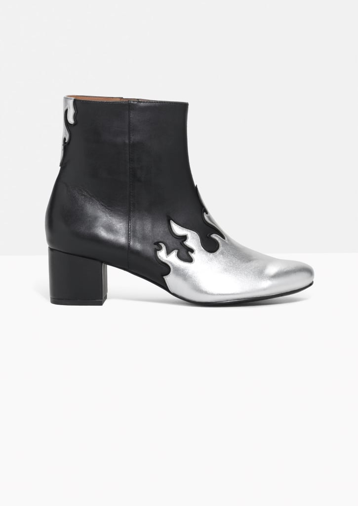 & Other Stories Metallic Flame Leather Boots (£125)