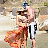 Jenna Dewan and Channing Tatum holidayed in St. Barts in December 2012.