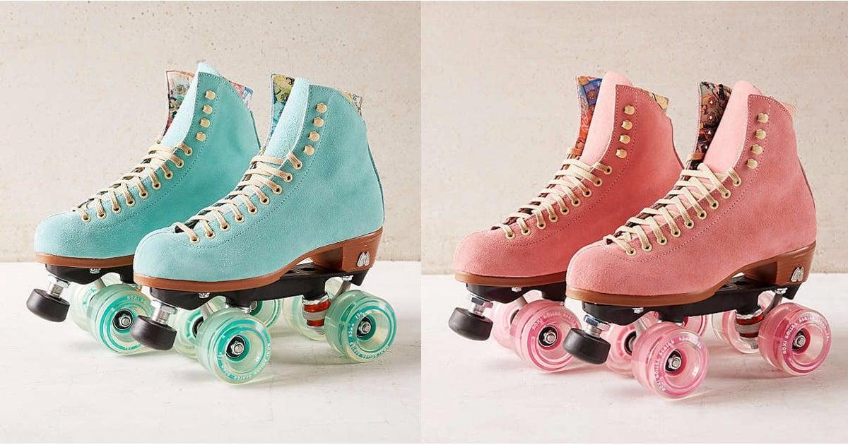 Moxi Suede Roller Skates Popsugar Fashion