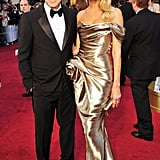 George Clooney and Stacy Keibler