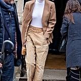 Gigi Hadid's Street Style at Paris Fashion Week
